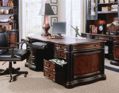 Leather Office Desk Hooker Furniture Home Office Preston Home Office Executive Desks