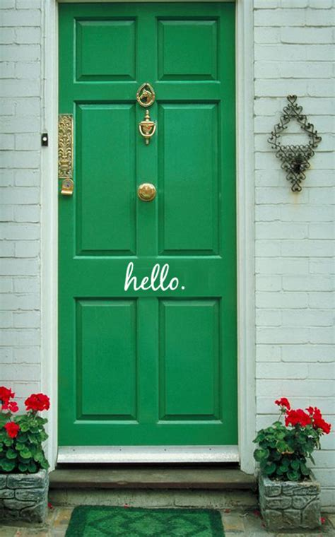 Hello Front Door Decal Hello Vinyl Decal