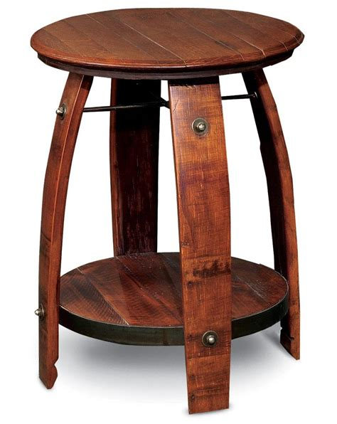 stave end table recycled barrel stave end table 2 day designs the log