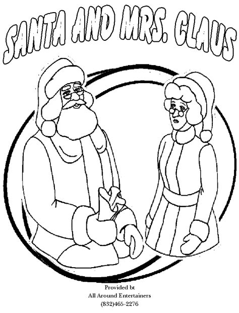 coloring pictures of santa and mrs claus santa coloring pages christmas part one