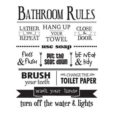 bathroom rules printables 25 best ideas about bathroom rules on pinterest