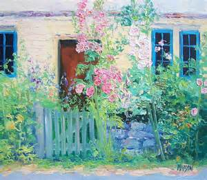 cottage garden paintings country cottage painting by jan matson