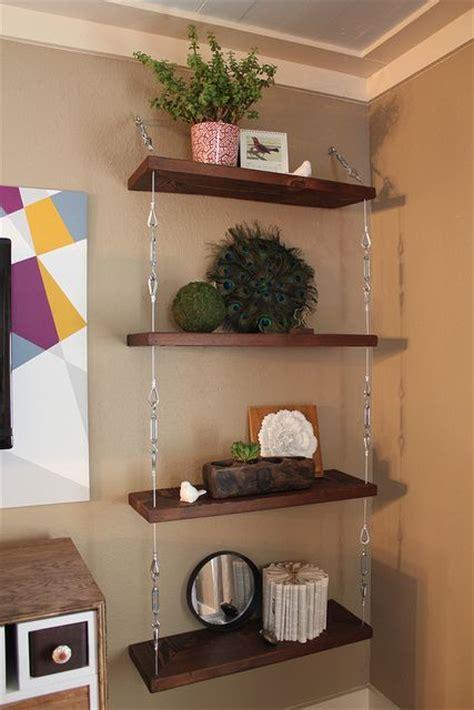 hanging shelf ideas hanging shelf tutorial craft ideas pinterest