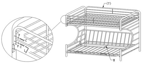 futon bunk bed assembly instructions assembly instructions of quot c quot style futon bunk bed how to