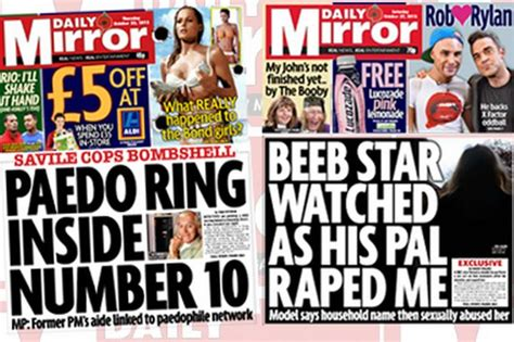 Daily Mirror Uk Front Page For 14 October 2017 jimmy savile ben needham and april jones october s daily