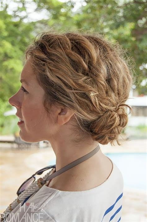 Easy Hairstyles For Curly Hair Braids by 15 Braided Bun Updos Ideas Popular Haircuts