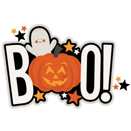 printable halloween pumpkin decorations boo title svg scrapbook cut file cute clipart files for