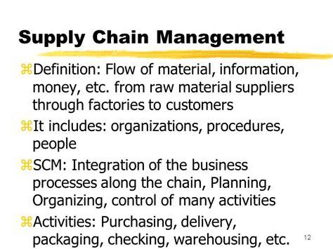 supply chain management description order fulfillment logistics supply chain management