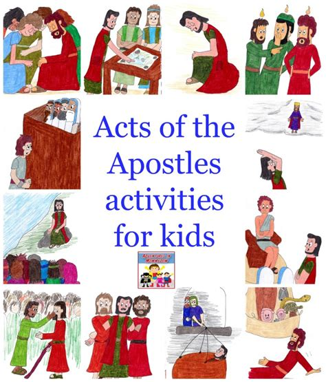 themes in the book of acts acts of the apostles activities for kids