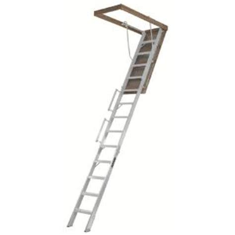 home depot attic ladder louisville ladder everest 10 ft 12 ft 25 5 x 63 in