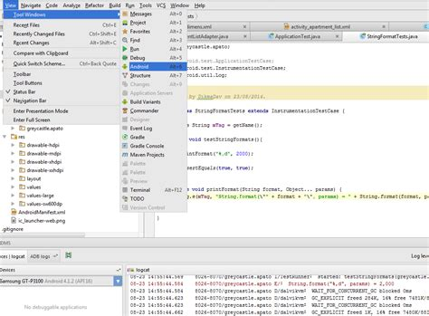 android logcat android studio 0 2 0 unit test no output on logcat