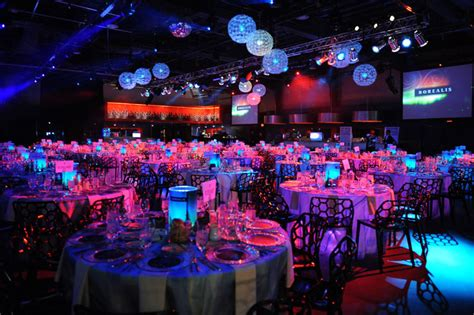 love themed events illuminated tables added to the event s northern lights