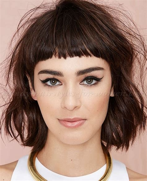 haircuts short hair bangs bob haircut bob hairstyle with short bangs trendy
