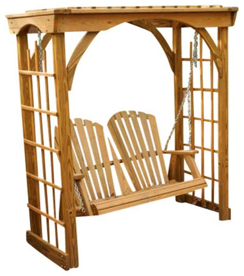 springfield swing set treated pine springfield arbor with 4 swing farmhouse
