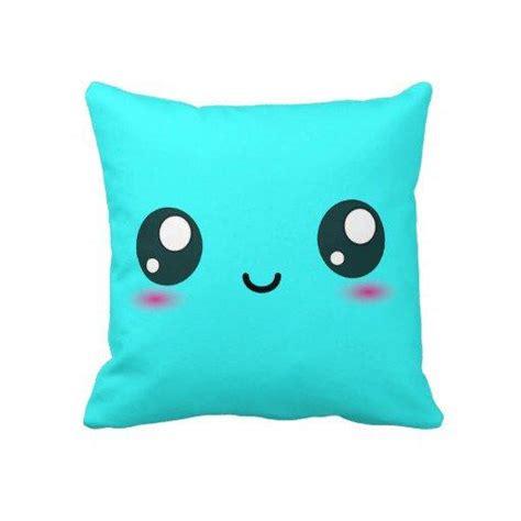 cute couch pillows cute kawaii smiley cushion bright cyan from zazzle pillows