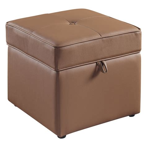 brown leather ottoman storage brown leather storage ottoman ideas home design ideas