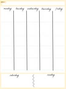 5 day work week calendar template calendar by week
