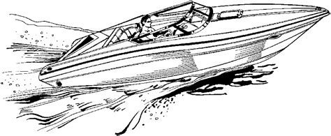 free coloring pages of speedboat