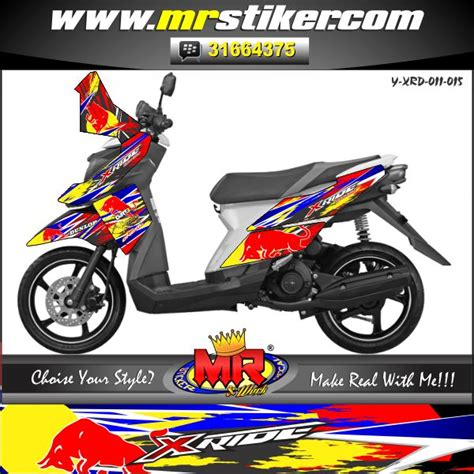 Decal Crf Kode 011 015 x ride bull stiker motor striping motor suka suka