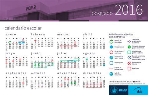 Calendario Buap 2017 Calendario Escolar Posgrado Buap Benem 233 Universidad