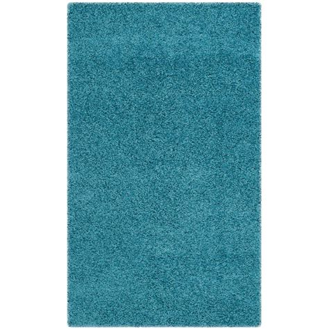 turquoise shag rug safavieh laguna shag turquoise 2 ft 3 in x 4 ft area rug sgl303t 24 the home depot