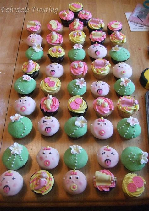cupcakes for baby shower fairytale frosting flowery girlie baby shower cupcakes