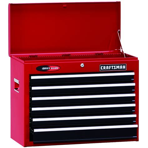 craftsman 6 drawer tool box quiet glide chest craftsman 105807 26 quot wide 6 drawer quiet glide 174 top