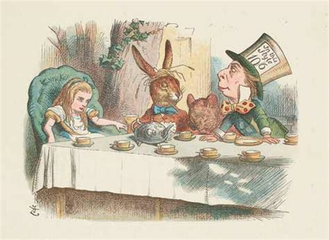 mad hatters and march hares all new stories from the world of lewis carroll s in books the mad tea tenniel national library of
