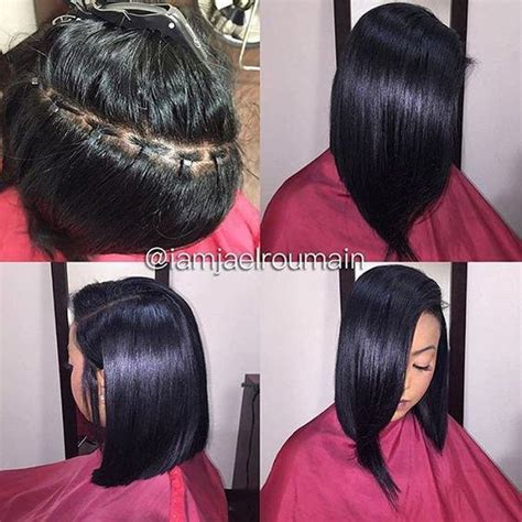sew in hair gallery killing that braidless sew in game 4 pics black hair