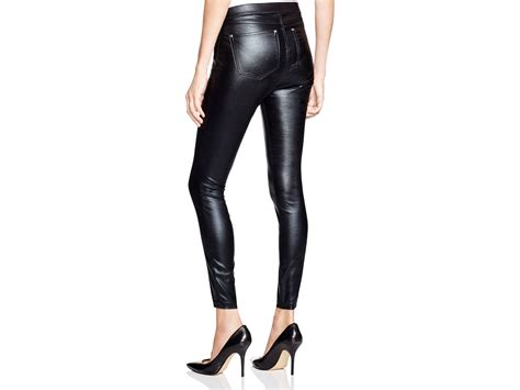 Glossy Legging lyst hue zippered glossy denim in black