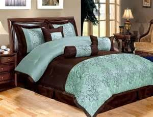 Navy Paisley Duvet Turquoise And Brown Bedding New 11 Piece Queen Bedding