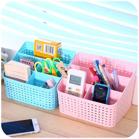 Cute Desk Organizer Jewelry Storage Bins Makeup Cosmetic Pretty Desk Organizers