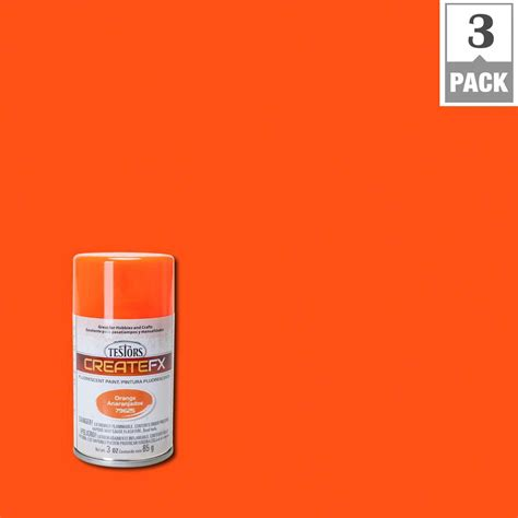 testors createfx 3 oz fluorescent orange spray paint 3 pack 79625 the home depot