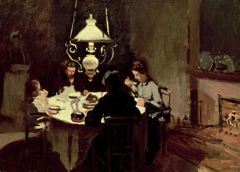 the dinner the dinner painting by claude monet