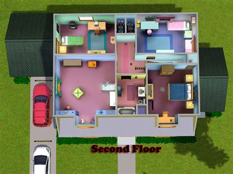 The Simpsons Floor Plan by Arlepesa S Family Guy House