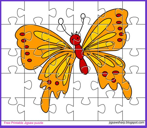 printable jigsaw puzzle for kids bee jigsaw free printable jigsaw puzzle game butterfly jigsaw puzzle