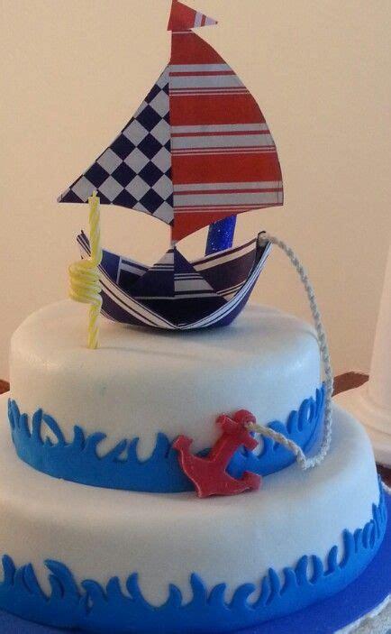 torta barco pirata utilisima torta barco de papel con ancla cumple 1 a 241 o pinterest
