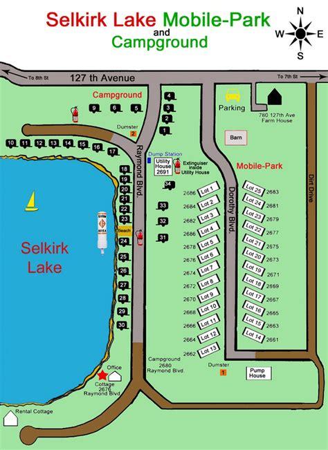 where is selkirk selkirk lake maps