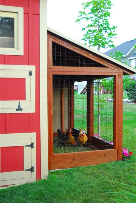 remodelaholic cute diy chicken coop  attached
