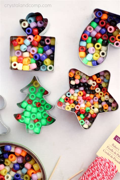 tree decorations children can make handmade beaded ornaments