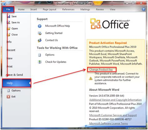 Product Key Microsoft Office free windows and tips change product key of 2010 office