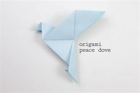 Easy Origami Dove - origami peace dove step by step