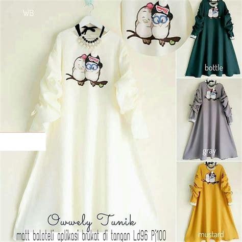 Dhira Blouse Tunik Atasan Wanita model baju atasan wanita blouse tunik owl terbaru ryn