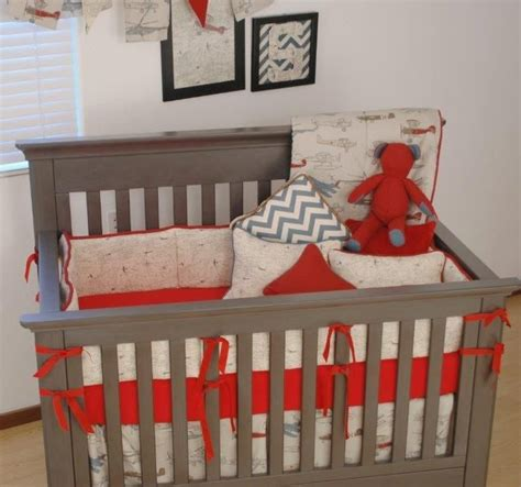 Vintage Airplane Crib Bedding Vintage Airplane Decor For Nursery Thenurseries