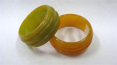napkin rings vintage bakelite jewelry