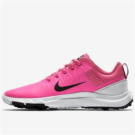 nike ladies fi impact  golf shoes pinkwhiteblack  sale puetz golf