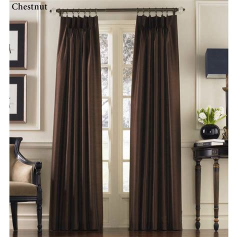 pleated curtain panels marquee flared faux silk pinch pleat curtain panels