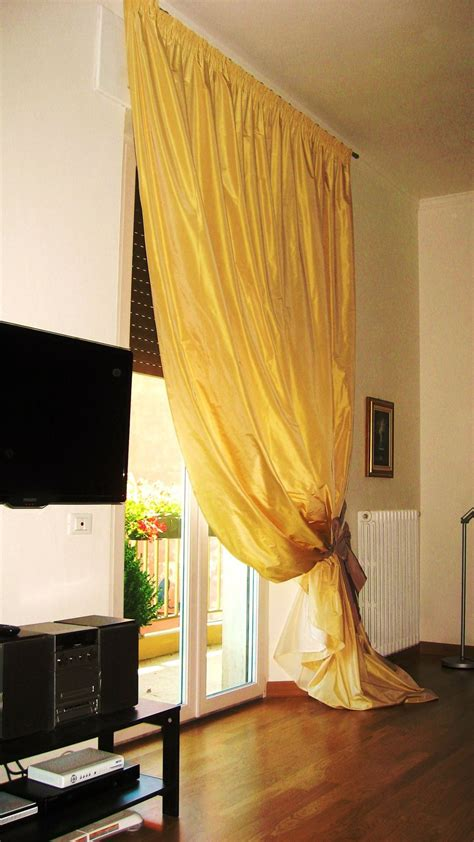 tende con calate tenda in taffeta su bastone con fiocco ucbuerif with tende