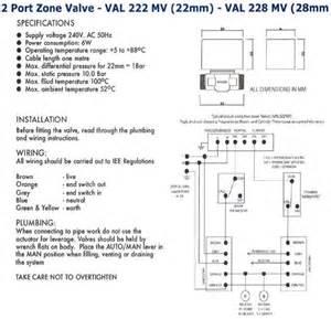 tower 22mm 2 port motorised valve central heating spare 5 wire val222mv ebay