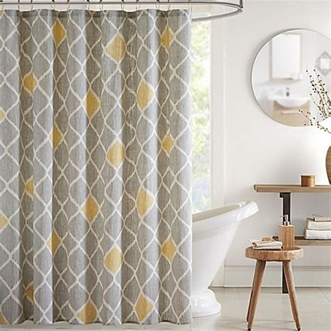 ivy shower curtain ink ivy nile printed shower curtain bed bath beyond